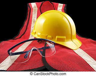 équipement, trio, sécurité