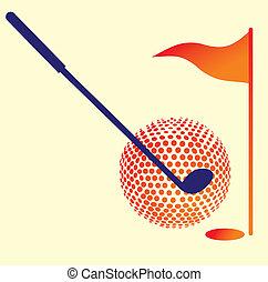 équipement, vecteur, art, golf, sports