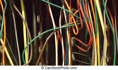 équipement, wirings, audio, coloré