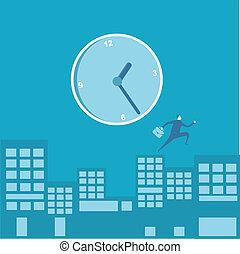 équipez course, gestion, business, temps