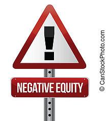 équité, négatif, illustration, signe
