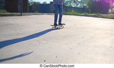 équitation, actif, skateboard., sports, extérieur, type