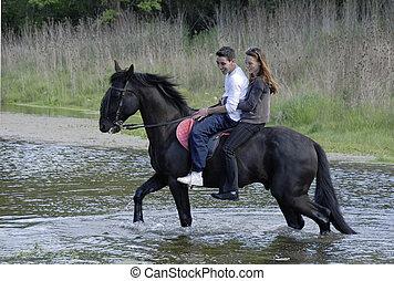 équitation, amants