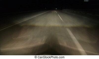 équitation, autoroute, nuit
