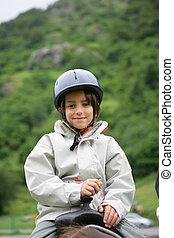 équitation, cheval, enfant