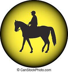 équitation, cheval, policier