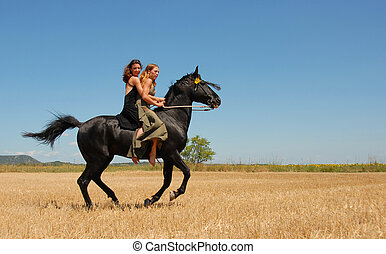 équitation, femme