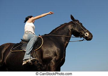 équitation, girl