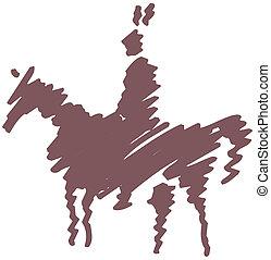 Cheval chef indien am rique quitation dessin anim illustration vecteurs rechercher - Dessin anime indien cheval ...