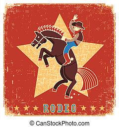 équitation, rodéo, cheval, cow-boy