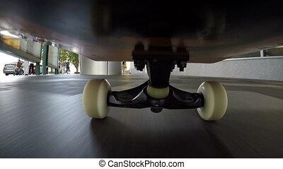 équitation, rue, skateboard