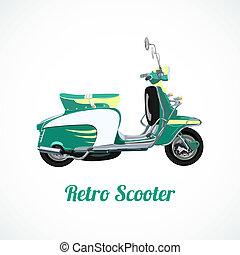 équitation, scooter, symbole