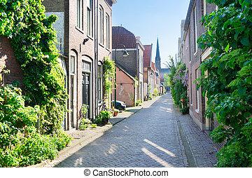 ércbánya, város, öreg, hollandia