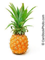 érett, ananász, gyümölcs