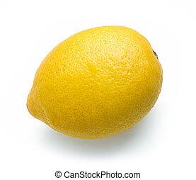érett, citrom, friss gyümölcs