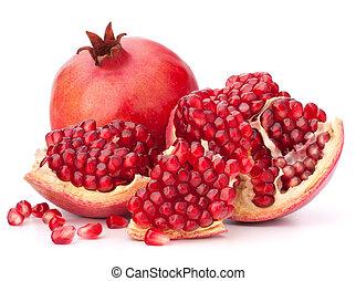 érett, gránátalma, gyümölcs