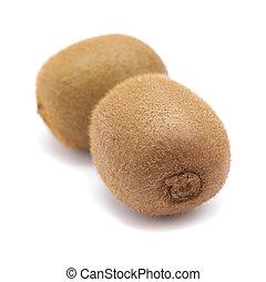 érett, kiwifruit, elszigetelt