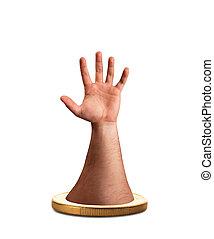 érme, kéz
