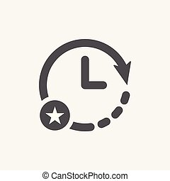 értékelés, csillag, legjobb, kedvenc, cégtábla., óra, jelkép, ikon