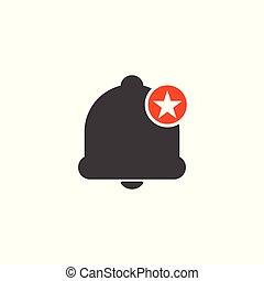 értékelés, csillag, legjobb, kedvenc, cégtábla., figyelmeztetés, jelkép, ikon