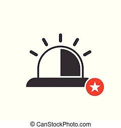 értékelés, csillag, szükséghelyzet, legjobb, kedvenc, cégtábla., jelkép, ikon