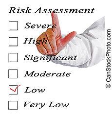 értékelés, kockáztat, egyszintű
