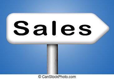 értékesítések, online