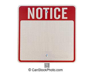 értesítés, tiszta, figyelmeztet, elszigetelt, aláír