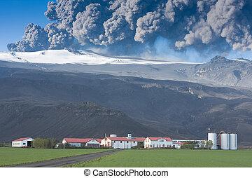 éruption, eyjafjallajokull