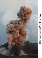 éruption, strombolian