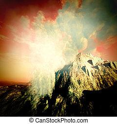 éruption volcanique