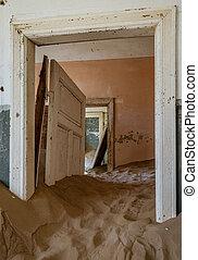 éstos, encima, arena, kolmanskoppe, invaded, cuartos,...
