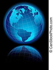 észak, &, afrika, amerika, világ, déli