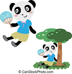 été, agréable, panda