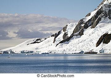 été, antarctique, -, temps