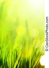 été, art, nature, printemps, résumé, fond, ou