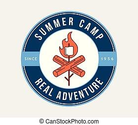 été, aventure extérieure, camp