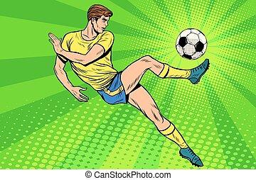 été, balle, a, football, sports, jeux, football