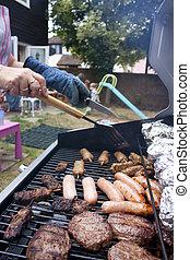 été, barbecue