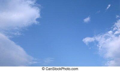 été, blanc, flotteur, nuages, sky.