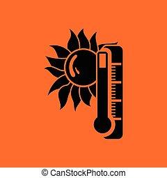 été, chaleur, icône