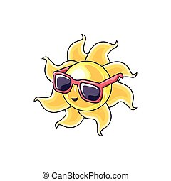 été, chaud, lunettes soleil, soleil