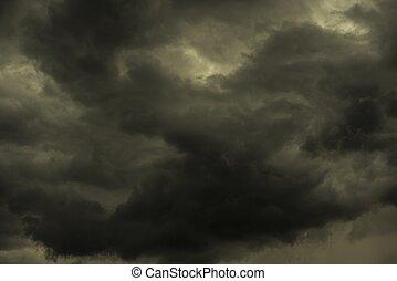 été, ciel, orageux