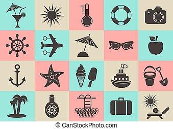 été, collection, icônes