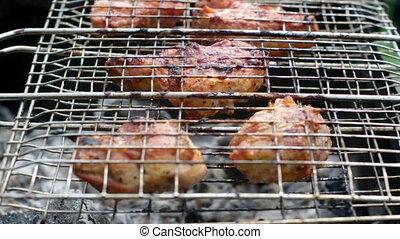 été, concept., barbecue