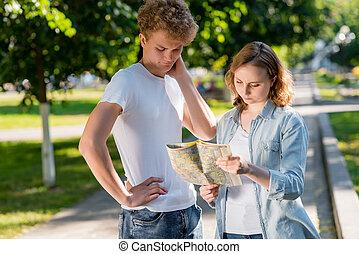 été, concept, city., girl, quel, do., nature., tient, émotions, leur, manière, surprise, sien, else, savoir, ils, mains, pas, go., perdu, misunderstanding., map., type, où, route