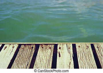 été, coupure, pont, bois, temps, sentier