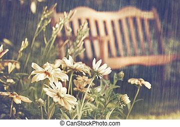 été, douches