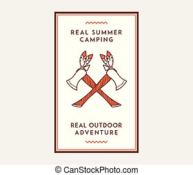 été, extérieur, camp