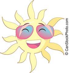 été, face souriant, soleil